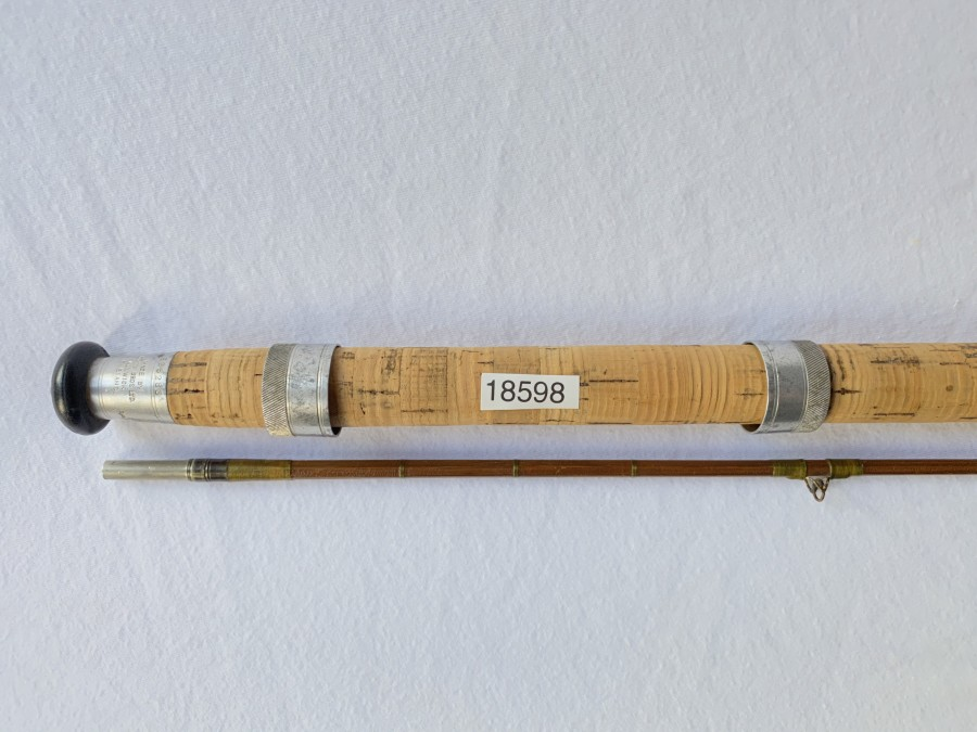 Gespliesste Spinnrute, Hardy, The Hardy Palacona Regd, 2tlg., 2,15m, Futteral, Kunststoffrohr, starke Gebrauchsspuren