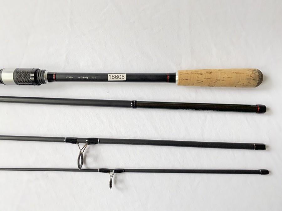 Spinnrute, Cormoran Cross Water, Travel Spin 240 - 60, 4tlg., 2,40m, Wurfgewicht 20 - 60 gr, Futteral, Gebrauchsspuren