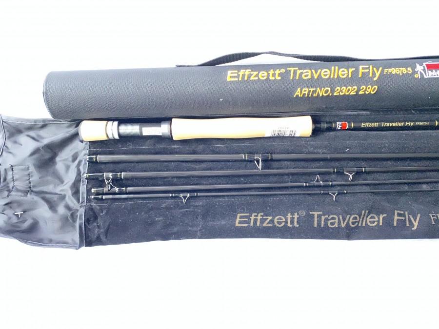 """Fliegenrute, DAM Effzet Traveller Fly,  FF9678-5, 5tlg.,  9.6"""", #7/8, Art. No. 2302 290, Futteral Cordurarohr, neu und ungefischt"""