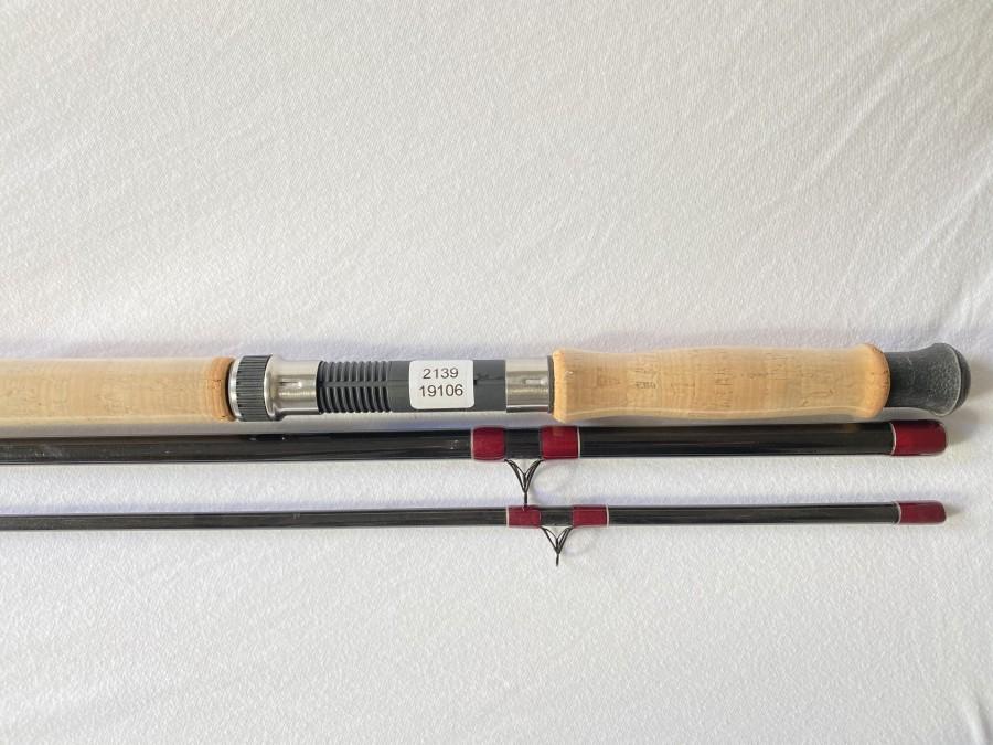 Zweihandfliegenrute, NG 15`, 3tlg., 15 Fuß, #9/10/11, Futteral, neu und gefischt