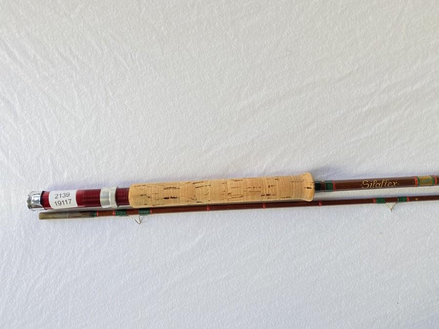 Glasfaser Fliegenrute, Kingfisher, Silaflex, 2tlg., 2,55m, #7, Futteral, schöne Gebrauchsrute