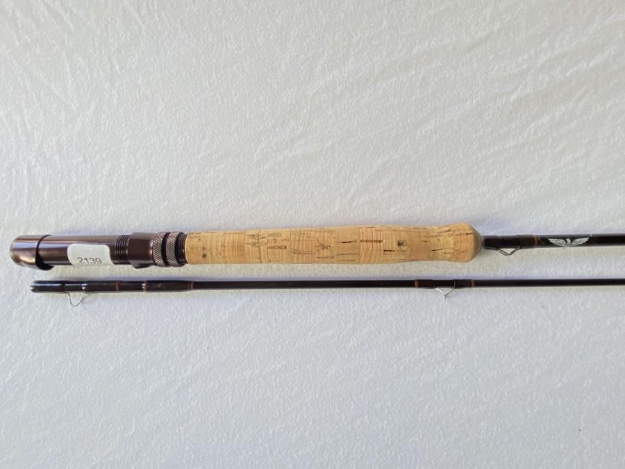 Fliegenrute, Fenwick HMG, 2tlg., 8 1/2 Fuß, #8, Futteral und Albrohr, sehr guter Zustand