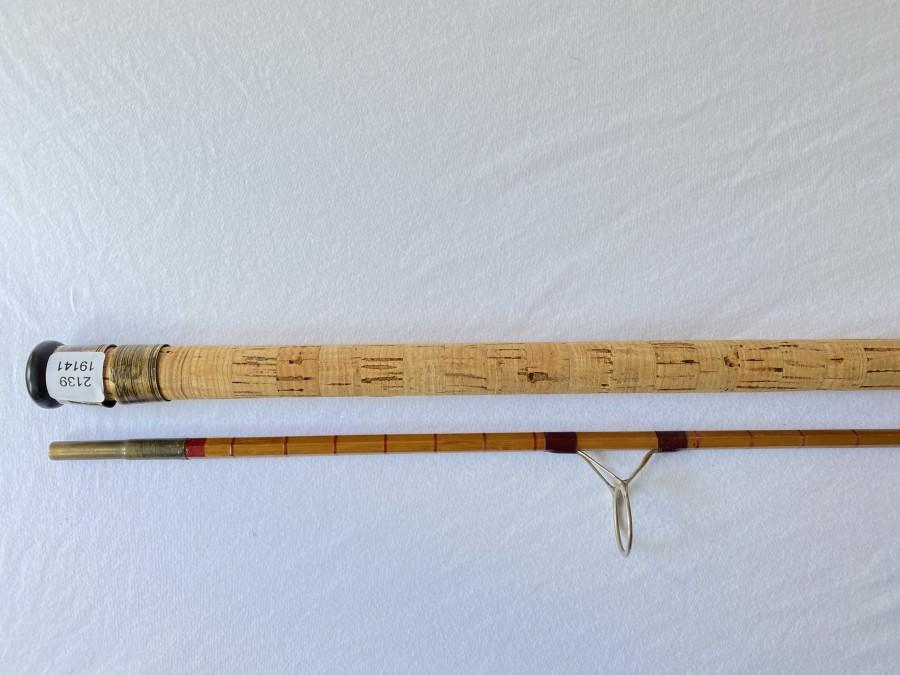 Vintage Spinnrute, gespliesst, Original noris, 2061a, 2tlg., 2,45m, Gebrauchsspuren