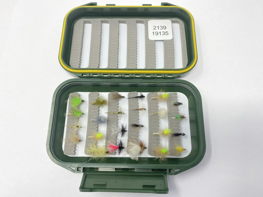 Fliegenbox mit 24 Trockenfliegen, gute Qualität