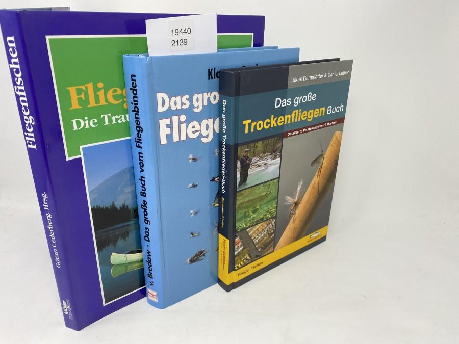 3 Bücher: Fliegenfischen Die Traumgewässer der Welt, Gran Cederberg, Hrsg.,1991; Das große Buch vom Fliegenbinden, Klaus v. Bredow, 1995; Das große Trockenfliegen Buch, Lukas Bammatter & Daniel Luther, 2014