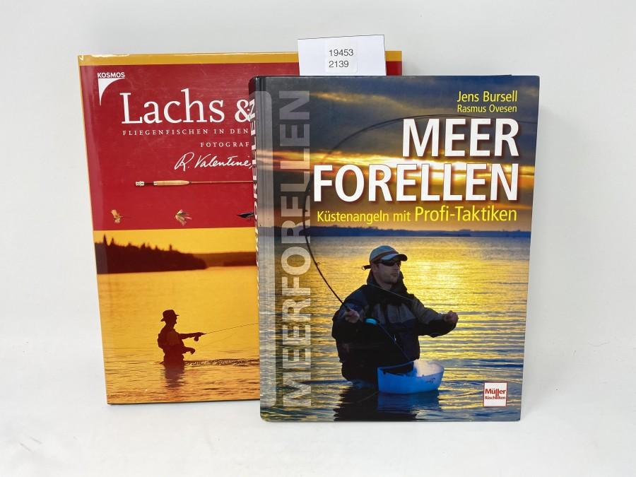 2 Bücher: Lachs & Forelle, Fliegenfischen in den Traumrevieren der Erde, Fotografien von R. Valentine Atknson, 1999; Meerforellen, Küstenangeln mit Profi-Taktiken, Jens Bursell/Rasmus Ovesen, 2013