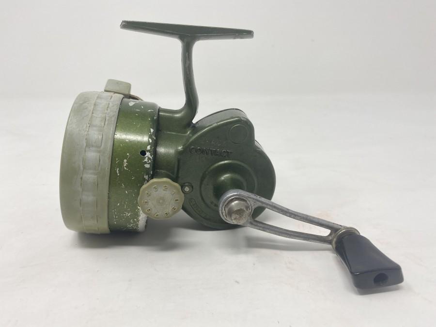 Stationärrolle, Crack Kontakt 400, grün, Spulenschutzschraube Kunststoff, technisch in Ordnung, Gebrauchsspuren