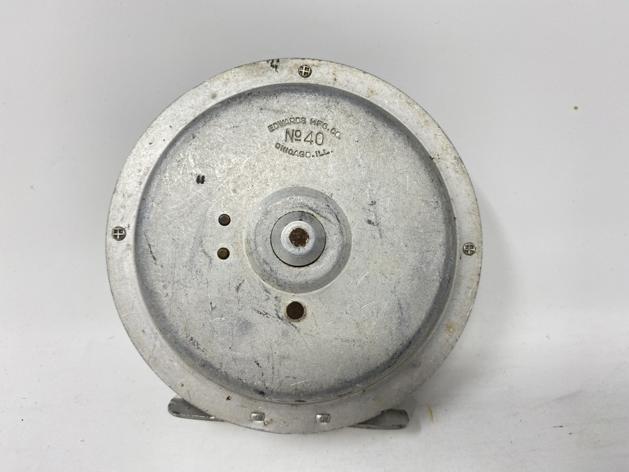 "Fliegenrolle Edwards MFG.CO.Co, No. 40, Chicago.Ill, 3 3/4"", technisch gut, Gebrauchsspuren"