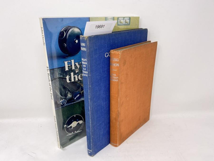 3  Bücher: Fly Reels of the Past, John Orrelle; Going Fishing, Negley Farson, 1943; Flying Salmon, G.P.R. Balfour-Kinnear, 1937