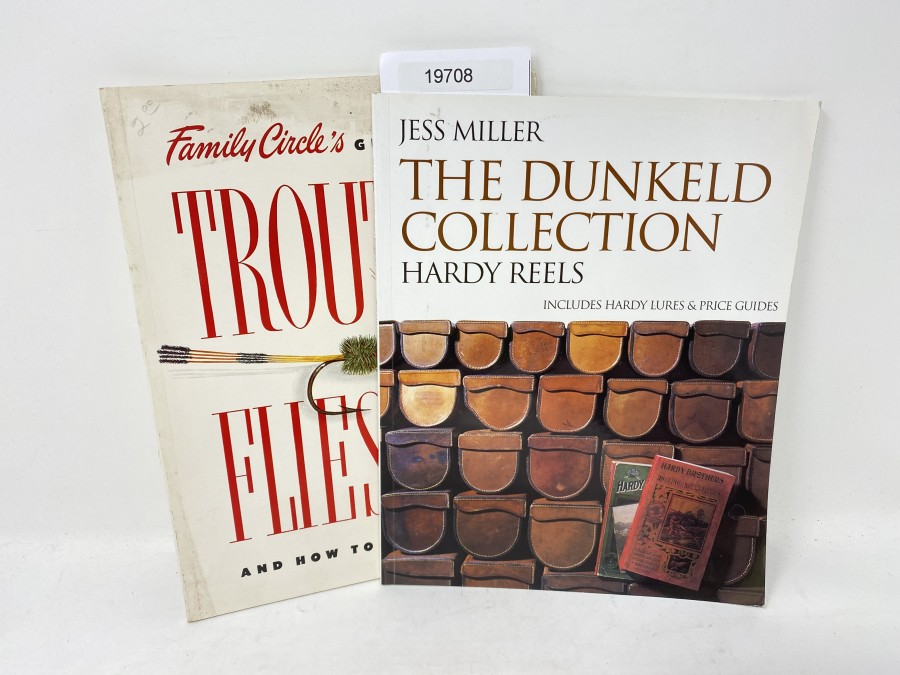 2 Bücher: The Dunkeld Collection Hardy Reels, Jess Miller; Trout & Flies and how to tie them