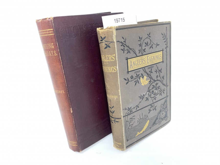 2 Bücher:  Angling Holidays in Pursuit of Salmon, Trout and Pike, C.W. Gedney, 1896; Anglers' Evenings, Papers of Members of the Manchester Anglers' Association, First Series, Second Edition, 1883