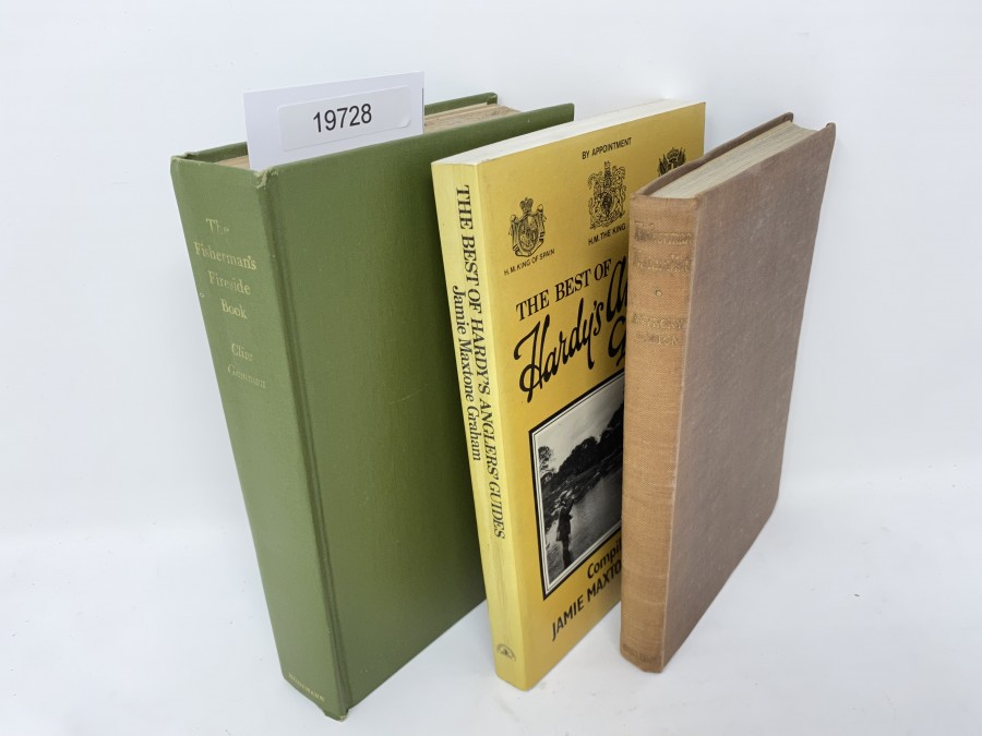 3 Bücher:  The Fisherman´s Fireside Book, Clive Gammon, 1961;  The Best of Hardys Anglers Guides, Jamie Maxtone Graham, 1982; Fisherman Naturalist, Anthony Buxton, 1946