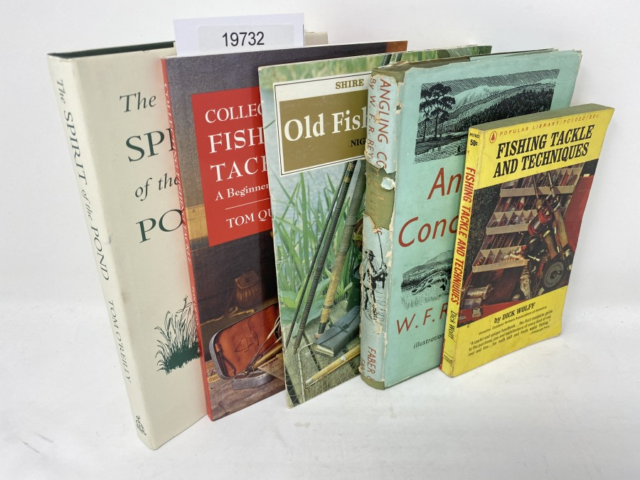 5 Bücher: The Spirit of the Pond, Tom O`Reily; Collecting Fishing Tackle, A Beginners Guide, Tom Quinn, 1995; Old Fishing Tackle, Nigel Dowden; Angling Conclusions, W.F.R. Reynolds;  Fishing Tackle and Techniques, Dick Wolff