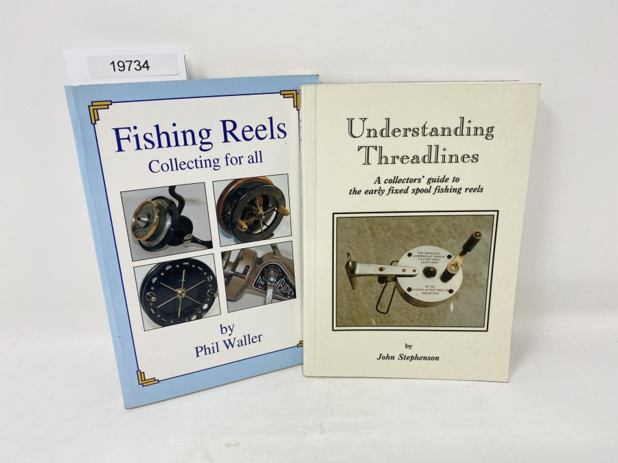 2 Bücher: Understanding Treadlines, John Stephenson,  1992; Fishing Reels, Collecting for all, Phil Waller