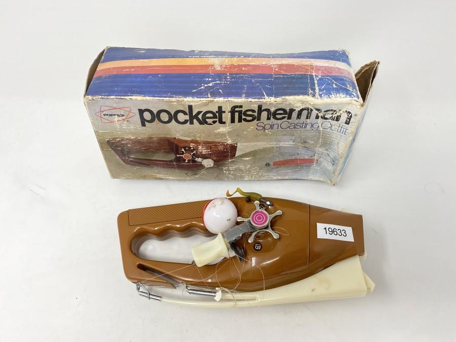 Spin Casting Outfit, Popeil's Pocket Fisherman, im Originalkarton, Gebrauchsspuren
