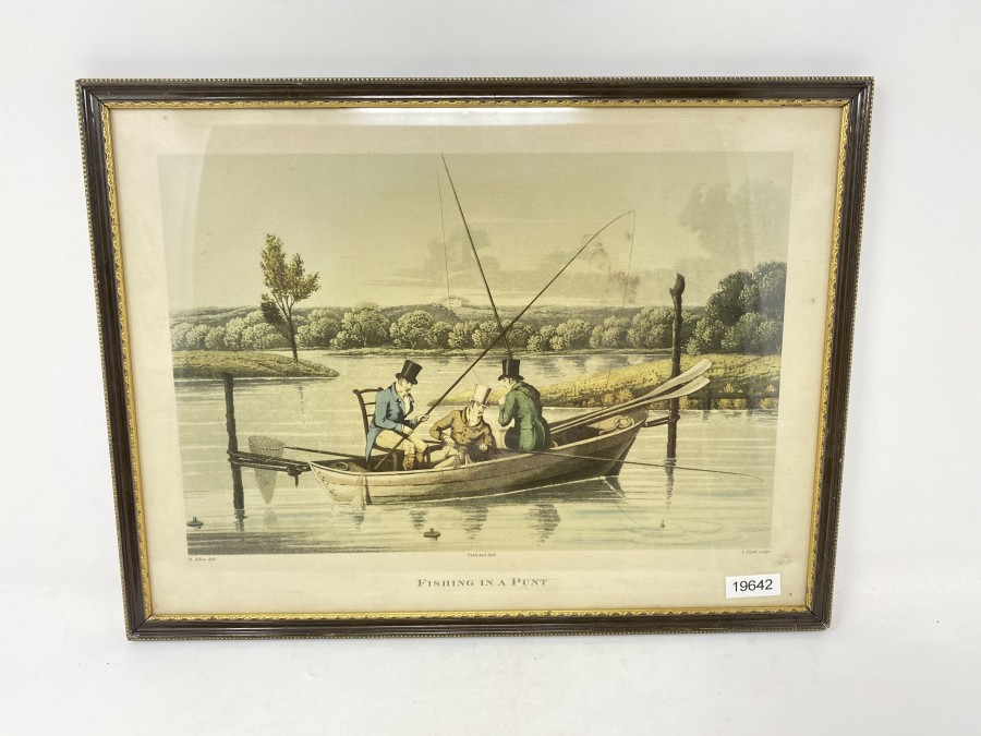 Bild, Druck Fishing in a Punt, 1820
