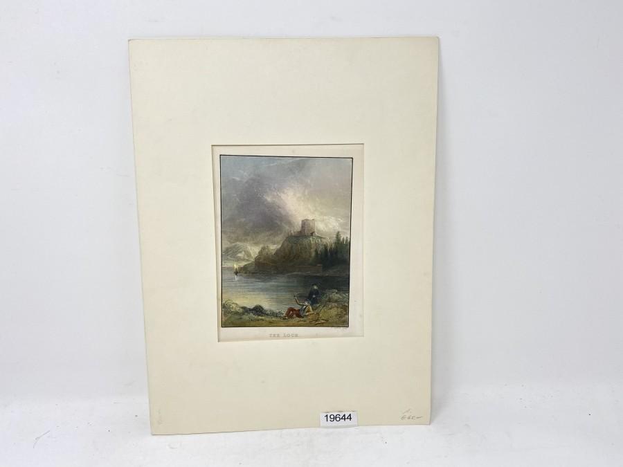 Bild: Druck The Loch, England 19. Jahrhundert
