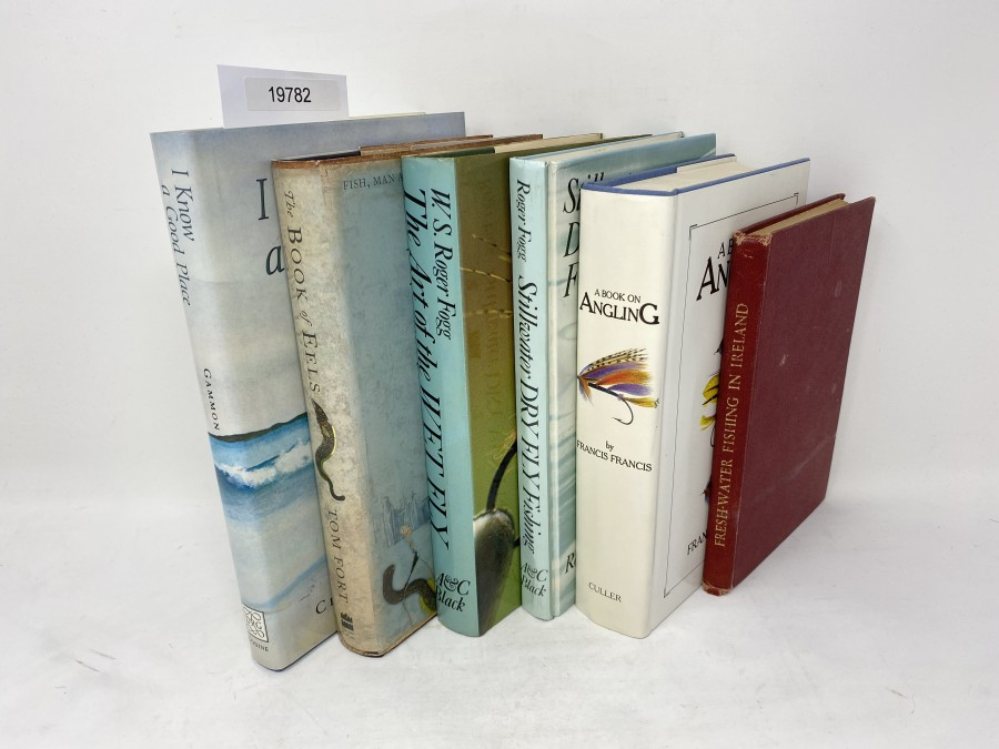 6 Bücher: The Book of Eels, Tom Fort, 2002; The Art of the Wet Fly, W.S. Robert Fogg, 1979; Stillwater Dry Fly Fishing, Robert Fogg, 1985;  A Book of Angling, Francis Francis; I Know a Good Place, Clive Gammon, 1989; Fresh Water Fishing in Ireland, Laurie Gaffey
