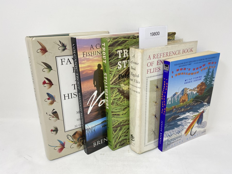 5 Bücher: Favorite Flies and Their Histories, Mary Orvis Marbury, 1988; A Complete Guide to Fishing the Taupo Region, Brendon Mathews, 2003; Trout from Stillwaters, Peter Lapsley, 1981; A Reference Book of English Trout Flies, W.H. Lawrie, 1967; I Don't know why  I Swallowed The Fly, Jessica Maxwell, 1998