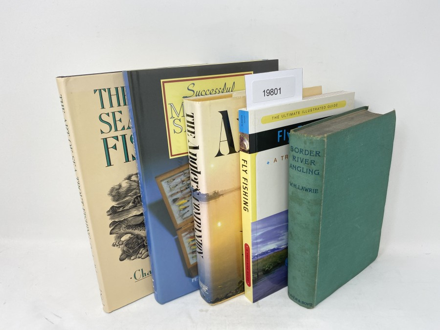 5 Bücher: The Art of Sea Trout Fishing, Charles McLaren, 1989;  Successful Modern Salmon Flies, Peter Machenzie-Philips, 1989; The Anglers Companion, Fly Fishing; A Trailside Guide, John Merwin, 1996; Border River Angling, William H. Lawrie, 1939