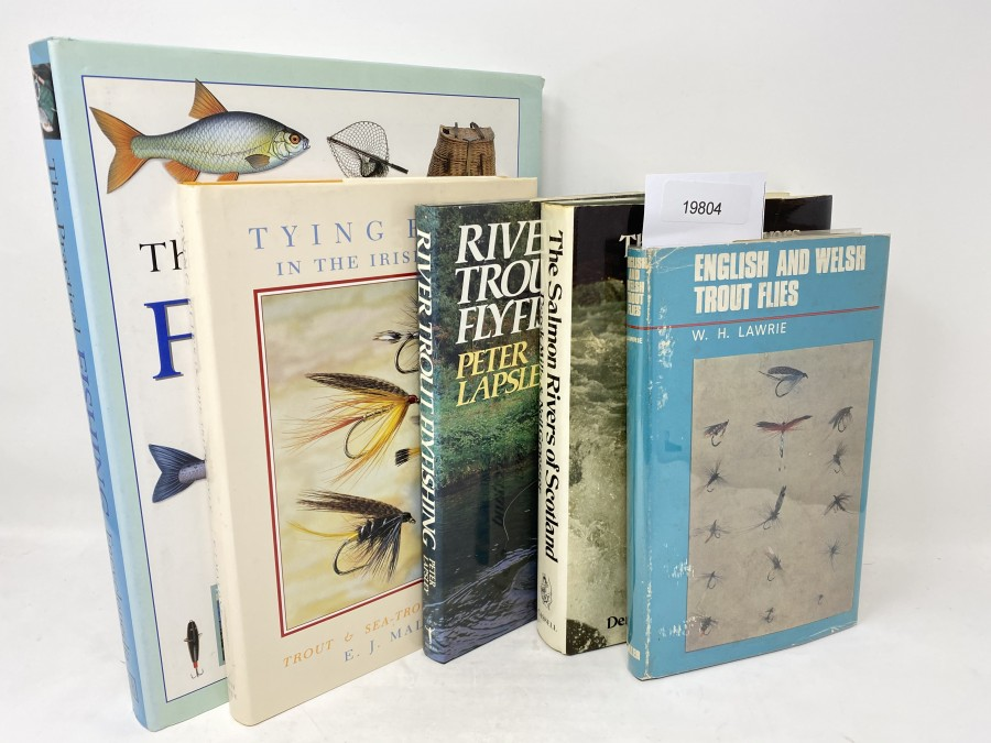 5 Bücher:  The Pracical Fishing Encyclopedia, Tony Miles/Martin Ford/ Peter Gathercole, 1999; Tying Flies in the Irish Style, Trout & Sea-Trout Patterns, E. J. Malone, 2000;  River Trout Flyfishing, Peter Lapsley, 1988; The Salmon Rivers of Scotland, Derek Mills/Neil Graesser, 1981;  English and Welsh Trout Flies, W.H. Lawrie, 1967
