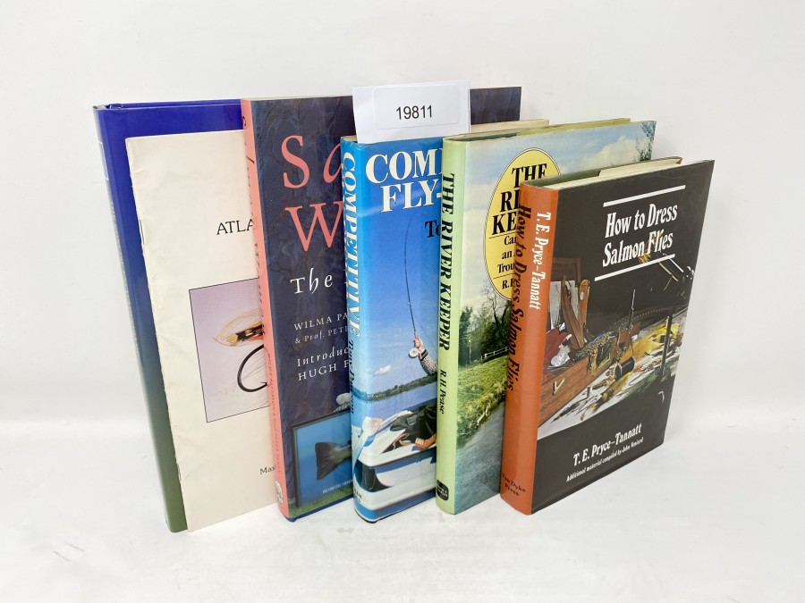 6 Bücher: The Concise Encyclopedia of Fishing, Gareth Purnell/Alan Yates/Chris Dawn, 1998; Atlantic Salmon Flies, Maxwell MacPherson, Jr.;  Salmon & Women, The Feminine Angle, Wilma Paterson/Peter Behan, 1990; Competitive Fly-Fishing, Tony Pawson, 1982; The River Keeper, Caring for an Anglers Trout Stream, R.H. Pease, 1982;  How to Dress Salmon Flies, T.E. Pryce-Tannatt, 1991