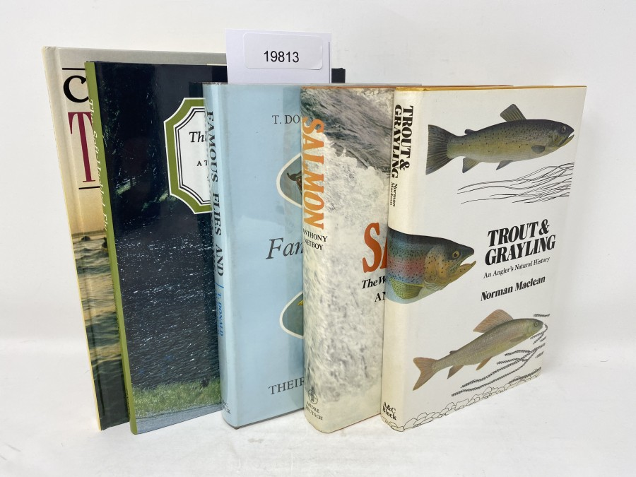 5 Bücher: Competition Trout Fishing, Chris Ogborne, 1988; Famous Flies and their Originators, 1972; The Soft-Hackled Fly, A Trout Fisherman´s Guide, Sylvester Nemes, 1975; Salmon The World's Most Harassed Fish, Anthony Netboy, 1980; Trout & Grayling An Anglers Natural History, Norman Maclean, 1980