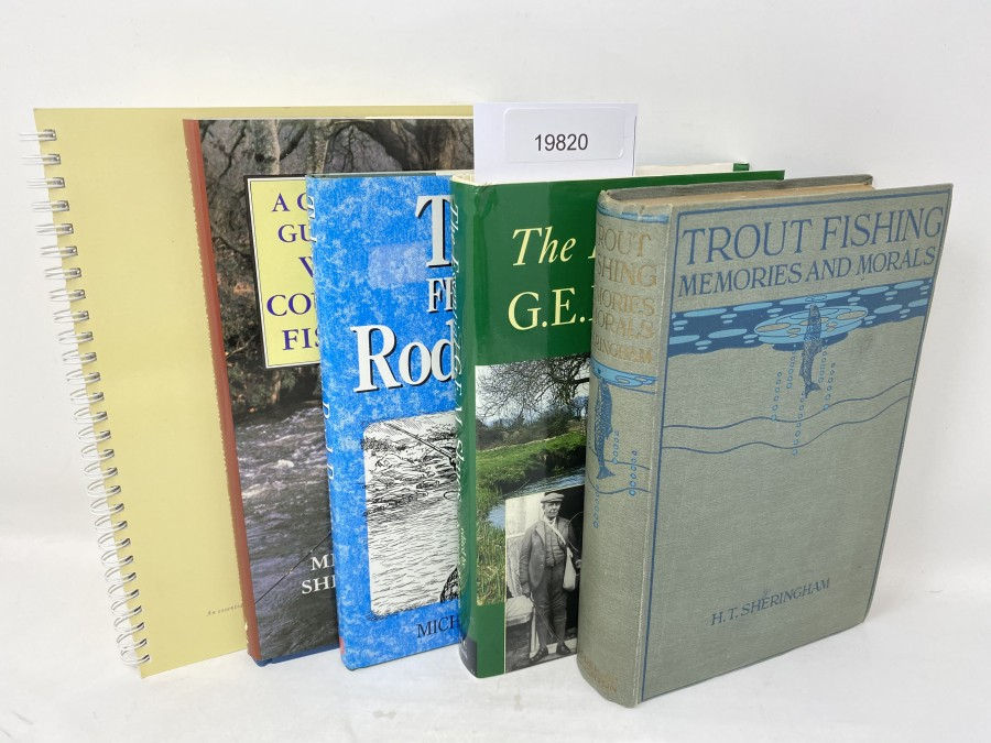 5 Bücher: Listen to the River, Steve Thornton, 2002; A Concise Guide to West Country Fishing, Michael Shephard, 1991; Tales from the Rod Room, Michael Paulet, 1994; The Essential G.E.M. Skues, 1998; Trout Fishing Memories and Morals, H.T. Sheringham