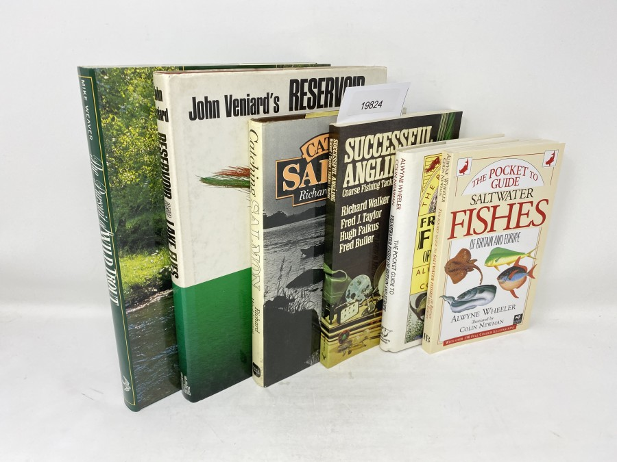 6 Bücher: The Pursuit of Wild Trout, Mike Weaver, 1988; Reservoir and Lake Flies, John Veniard, 1970; Catching Salmon, Richard Waddington, 1979; The Pocket to Guide Saltwater Fishes, Alwyne Wheeler/Colin Newman,  1992; The Pocket Guide to Freshwater Fishes, Alwyne Wheeler/Colin Newman, 1992; Successful Angling, Coarse Fishing Tackle and Methods, Richard Walker, Fred J.Taylor, Hugh Falkus, Fred Buller, 1977