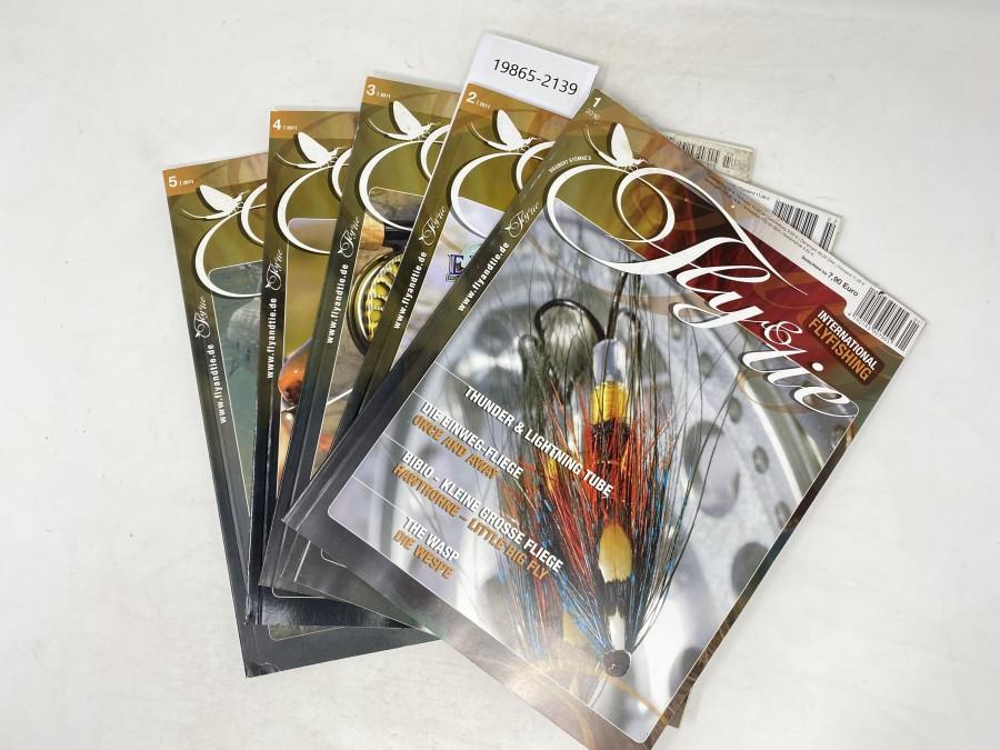 Zeitschriften: Fly & tie, International Flyfishing, 1/2010, 2/2011, 3/2011, 4/2011 und 5/2011