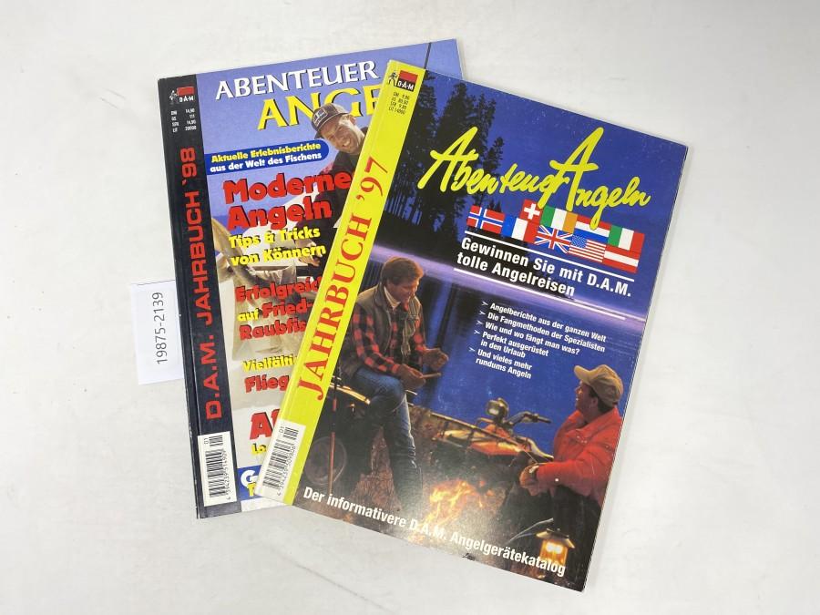 Kataloge: Abenteuer Angeln. Der informative D.A.M Angelgerätekatalog, Jahrbuch 97 und 98