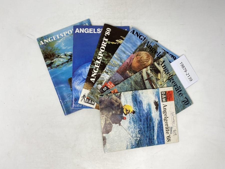 Kataloge: D.A.M Angelgeräte 68, 70, 71, Angelsport 79, 80 81 und 83