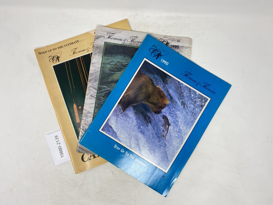Kataloge: Thomas & Thomas, 1989 und 2 Stück 1990,