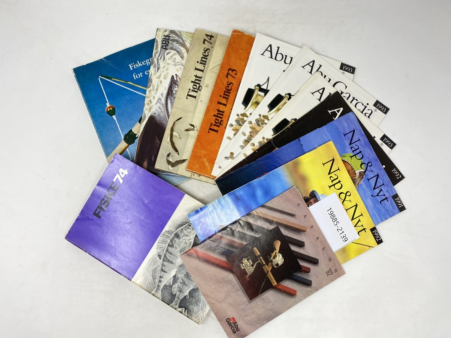 Kataloge: ABU Garcia 92, Nap & Nyt 1991 und 1992, ABU Garcia 1992, 1993, ABU Tight Lines 73,, 74, 81, Fiskegrejer for enhver und Fiske 74