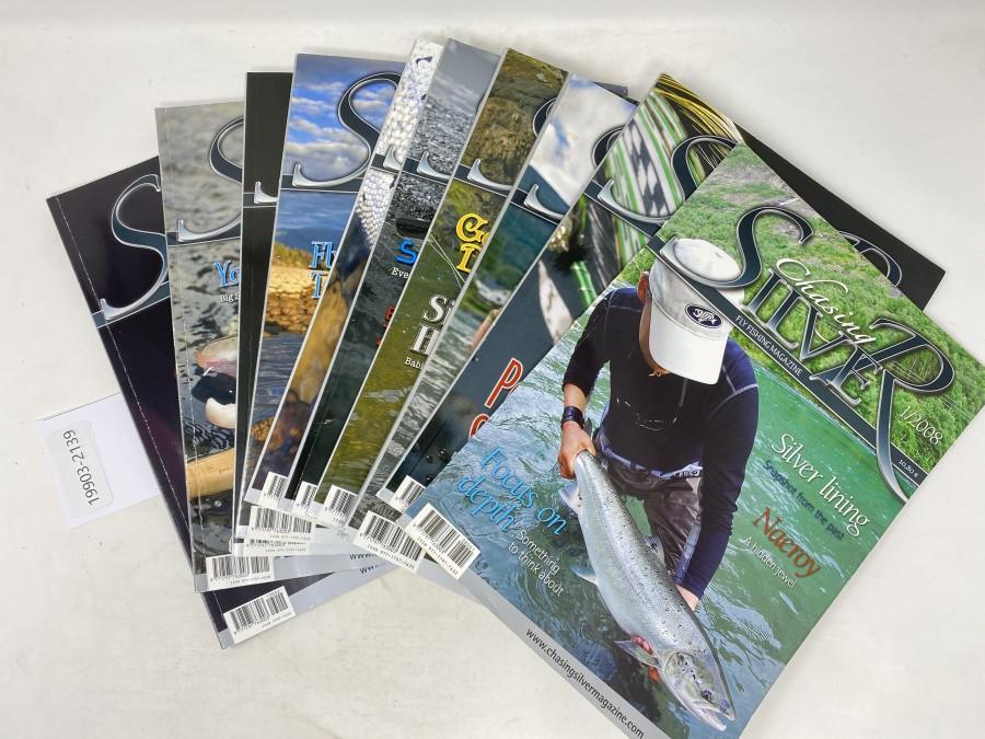 Zeitschriften:  Chasing Silver, 1/2008, 1/2209, 3/2209, 4/2209, 2/2010, 2/2011, 3/2011, 4/2011, 1/2013 und 2/20133