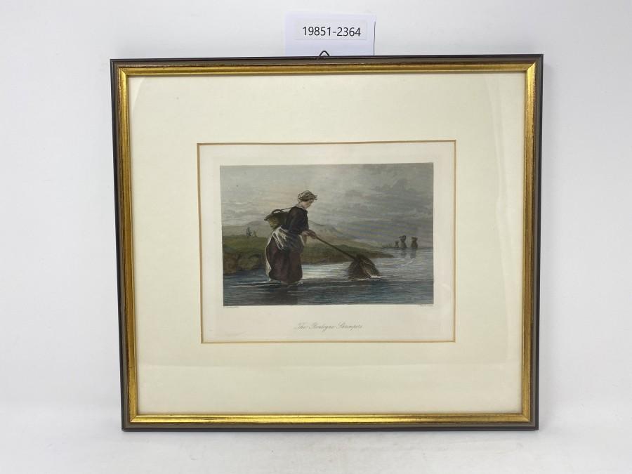 Bild The Boulogne Shrimpers,gekauft bei Farlow´s, London, sehr schöner Rahmen, 280x320mm