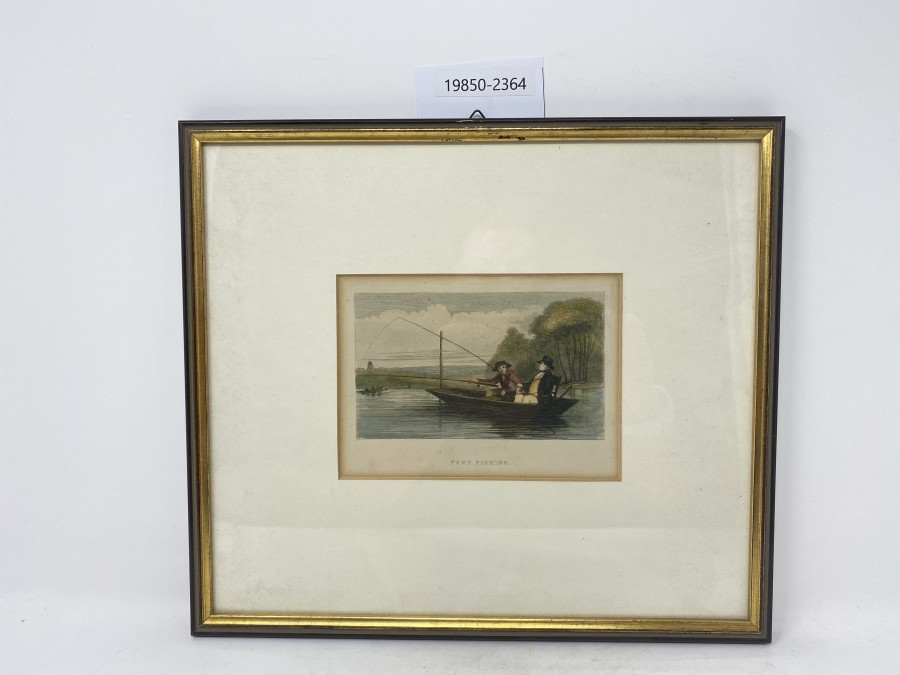 Bild Punt Fishing, sehr schöner Rahmen,  320x280mm, gekauft bei Farlow´s London