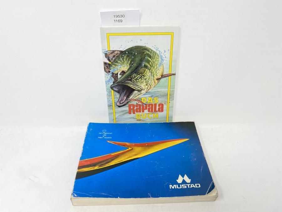 Das Rapala Buch, Raubfisch-Experten verraten ihre Wobbler-Tricks, Jan Eggers/Peter Sauer mit vielen Zeichnungen von Ad Stier; Mustad Hakenbuch
