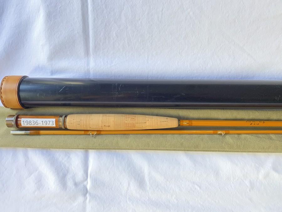 Gespliesste Fliegenrute brunner - austria, Type Salza, 3/87, 2tlg., 2,10m - 95 gr, # 4 - 5, Originalfutteral und Transportrohr, sehr guter Zustand, wenig gefischt
