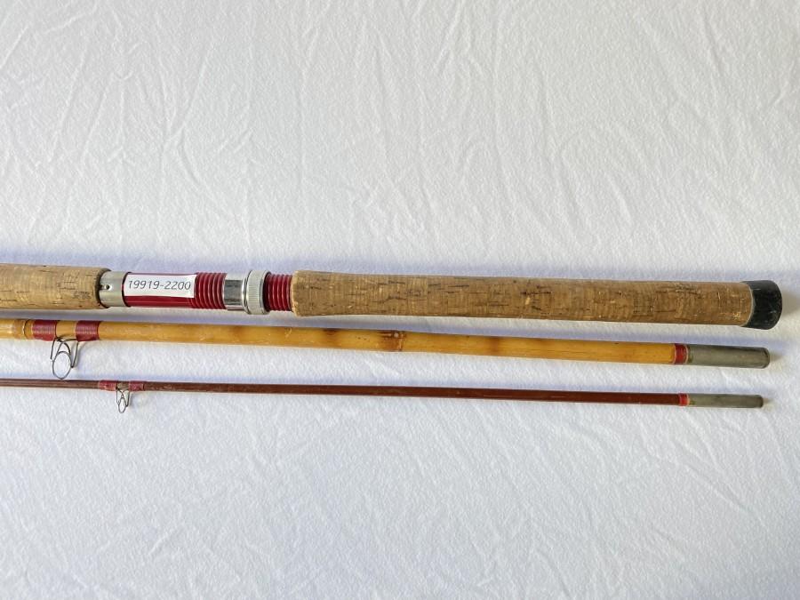 Angelrute DAM, Bambus/Glasfaserm 3tlg., 3,60m, starke Gebrauchsspuren
