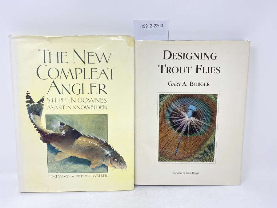 2 Bücher: Designing Trout Flies, Gary A. Borger, 1991; The New Compleat Angler, Stephen Downes/Martin Knowelden, 1983
