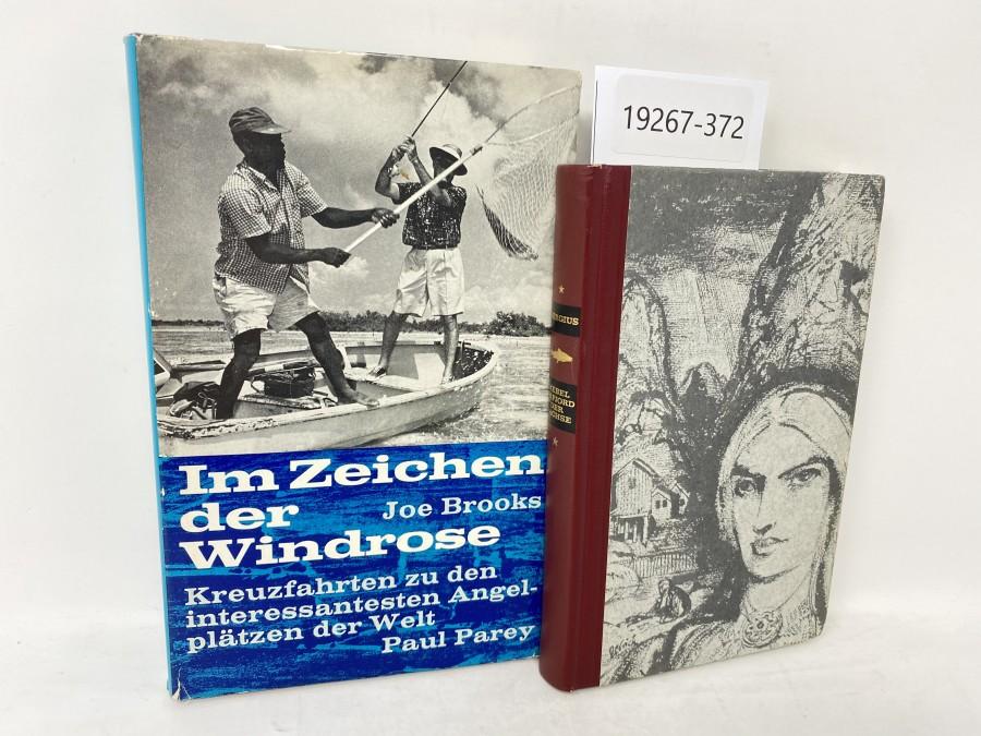 2 Bücher: Im Zeichen der Windrose, Joe Brooks; Nebel im Fjord der Lachse, C.C. Bergius