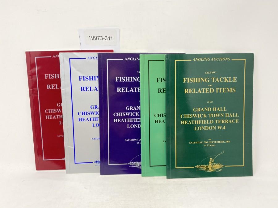 5 Auktionskatalog: Angling Auctions, Neil Freeman, September 2001, March und September 2003,  April und October 2002