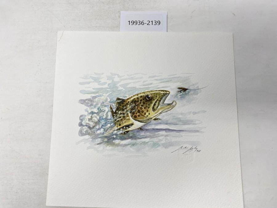 Aquarell von Maden Merkas Goranin, 1998, 240x240mm