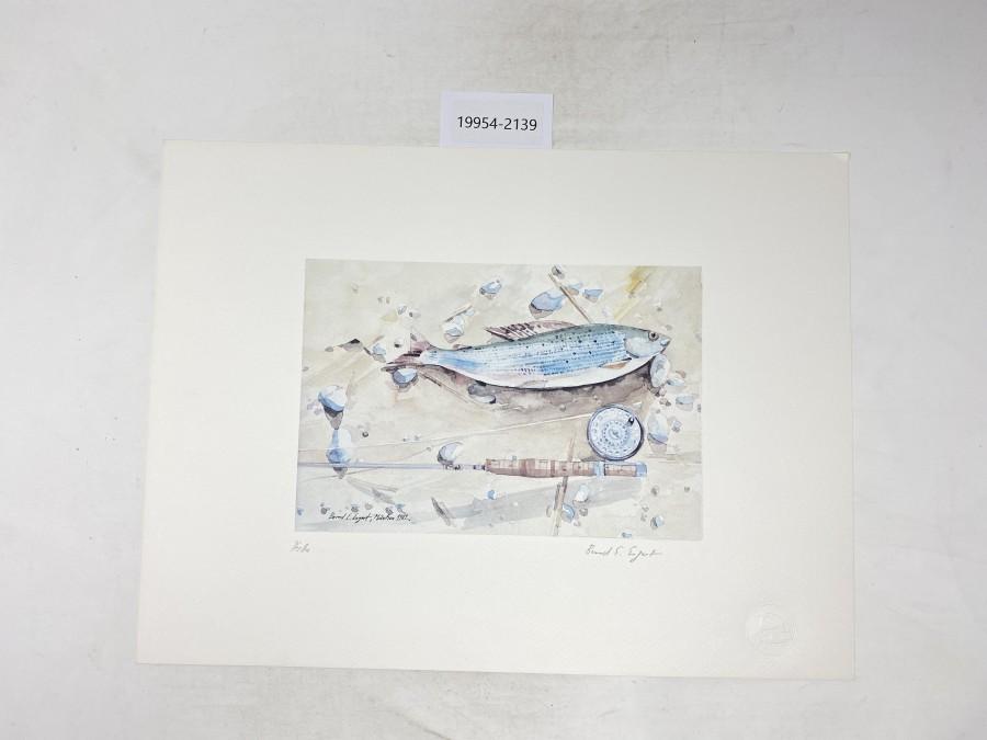 Aquarell von Bernd E. Ergert, Äsche, 400x300mm