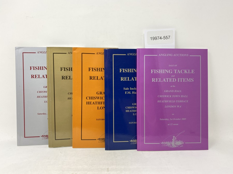 5 Auktionskatalog: Angling Auctions, Neil Freeman, March und October 2004, October 2005, April und September 2006