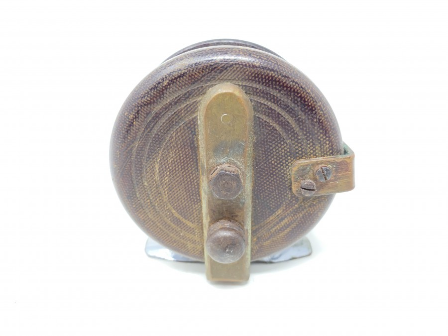 Alte Holzrolle, 75mm Durchmesser, Gebrauchsspuren