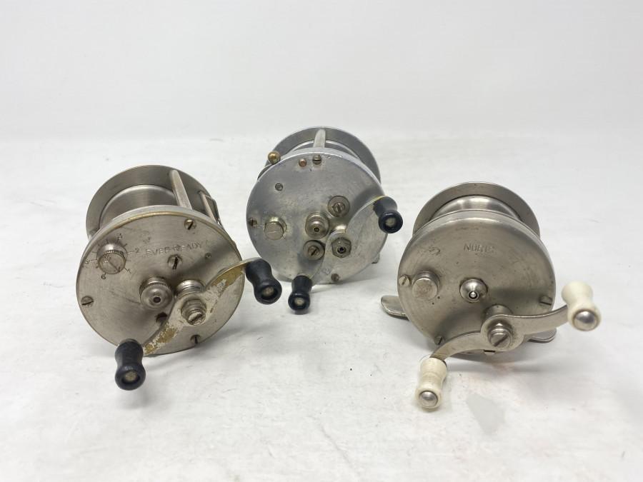 3 Multirollen: Noris, weisser Horngriff, 2 DAM Ever Ready, Gebrauchsspuren