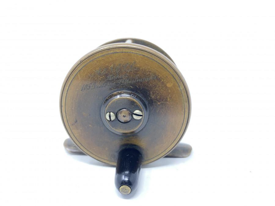 Kleine Messingrolle, Army & Navy Cooperative Society Limeited = A&N.C.S.L,  55mm Durchmesser, 30mm Breite, Horngriff, technisch gut, sehr schönes altes Finish