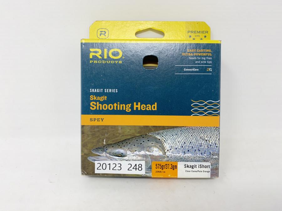Fliegenschnur Rio Skagit Shooting Head, 575gr/37,3g, Skagit iShort, clear Camp/Pale Orange, neu im Karton